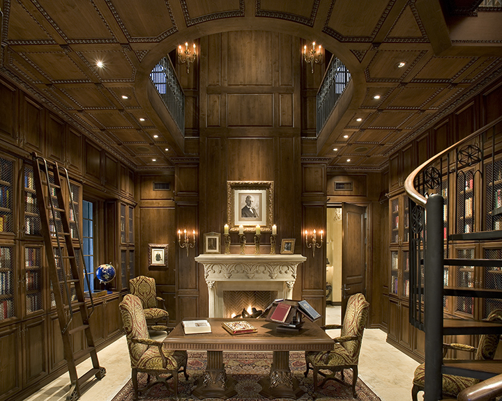 Interior cal christiansen company arizona 39 s top custom for Custom home library design